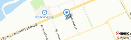 Детский сад №108 Веселинка на карте Красноярска