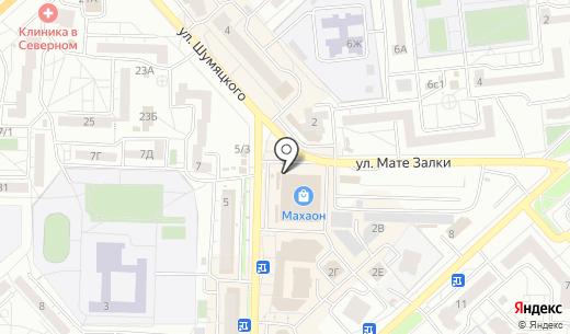 Шагане. Схема проезда в Красноярске