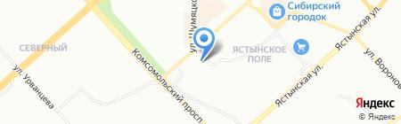 Рост`ОК на карте Красноярска