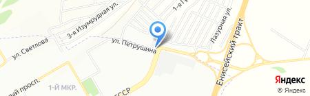 Рассвет на карте Красноярска
