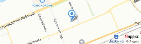 Детский сад №182 на карте Красноярска