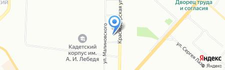 Корзинка на карте Красноярска