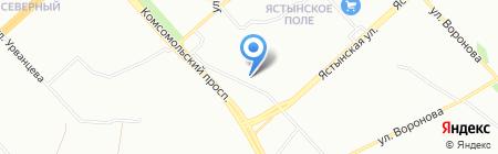 Крас-Ал на карте Красноярска