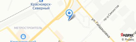 Тройка на карте Красноярска