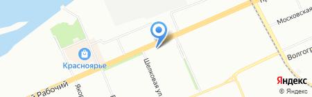 СибРечТранс на карте Красноярска