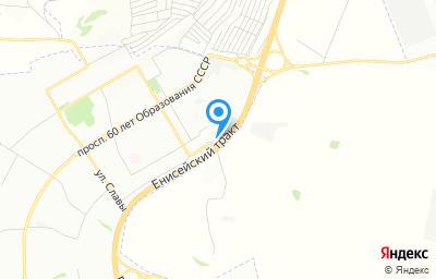 Местоположение на карте пункта техосмотра по адресу г Красноярск, тракт Енисейский, зд 71