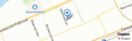 Четыре ветра на карте Красноярска