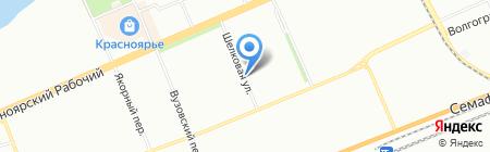 Енисейлаб на карте Красноярска