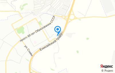Местоположение на карте пункта техосмотра по адресу г Красноярск, тракт Енисейский, д 71
