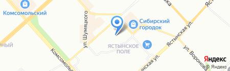 Служба содействия государственной пенсионной реформе на карте Красноярска