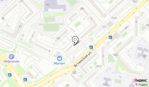 Продуктовый магазин на Ястынской. Схема проезда в Красноярске