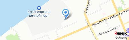 Речник на карте Красноярска