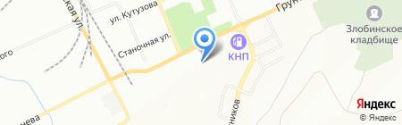 Термит на карте Красноярска