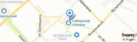 Аллея на карте Красноярска