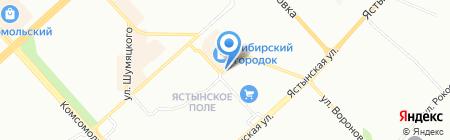 Самур на карте Красноярска