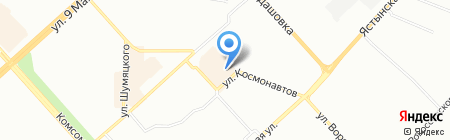 Штолле на карте Красноярска