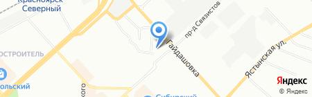Безопасность-К на карте Красноярска