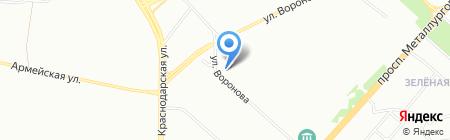 Элос на карте Красноярска