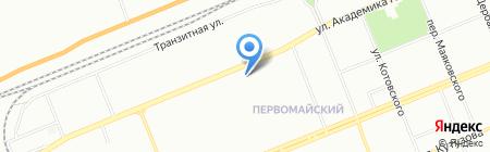 Первомайский на карте Красноярска