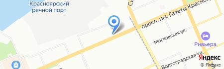 Мэйби на карте Красноярска