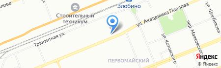 Премьер на карте Красноярска