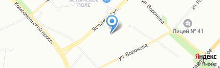Детский сад №151 Огонек на карте Красноярска