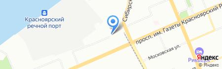Магазин трикотажа и чулочно-носочных изделий на карте Красноярска