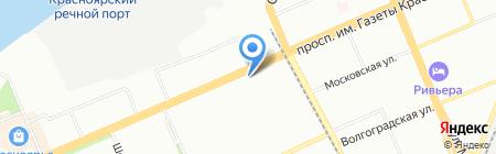 ROSA на карте Красноярска