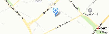 Средняя общеобразовательная школа №129 на карте Красноярска