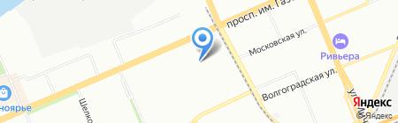 Зима на карте Красноярска