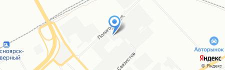 Водстрой на карте Красноярска