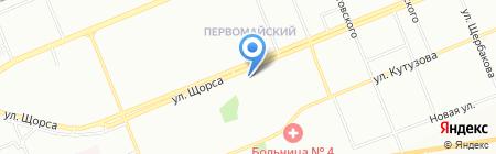 Экселент Тур на карте Красноярска