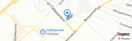 Шиномонтажная мастерская на ул. Гайдашовка на карте Красноярска