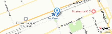 Транзитное на карте Красноярска