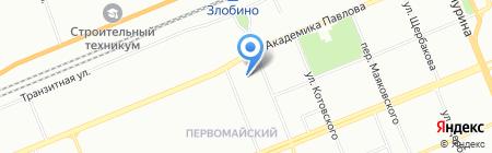 Марина на карте Красноярска