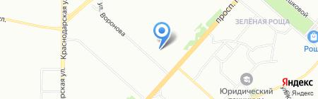 Элдэн на карте Красноярска