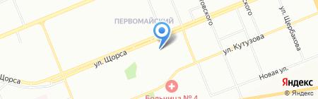 Шельф на карте Красноярска