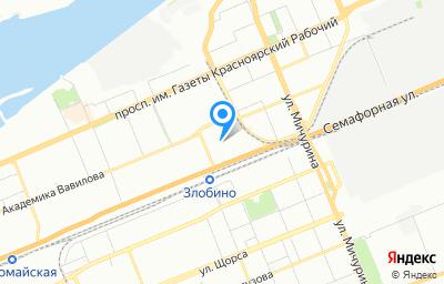 Местоположение на карте пункта техосмотра по адресу г Красноярск, ул Семафорная, д 439 стр 27