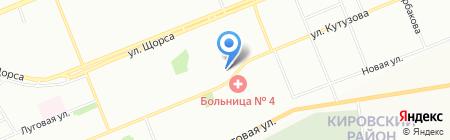 Золушка на карте Красноярска
