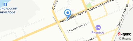 Лечение и отдых на карте Красноярска