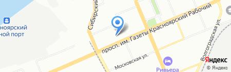 Аэлита-5 на карте Красноярска