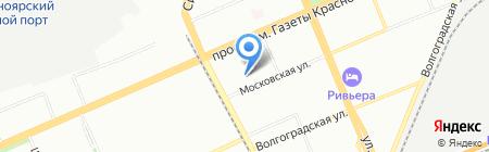 Детский сад №100 на карте Красноярска