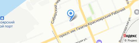 Погребок на карте Красноярска