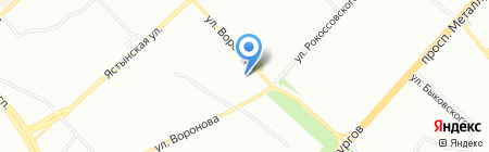 Тайга на карте Красноярска
