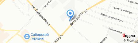 DinАвто на карте Красноярска