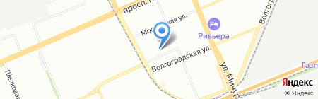 Звезда на карте Красноярска