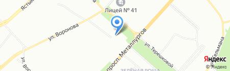 Детская художественная школа №2 на карте Красноярска