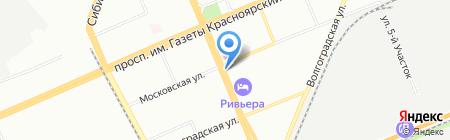 Клубный на карте Красноярска