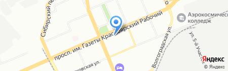 Мила на карте Красноярска