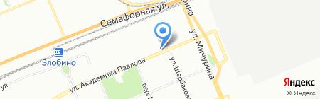 Мандарин на карте Красноярска